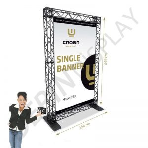 CROWN TRUSS STAND BANNER 1,5 M