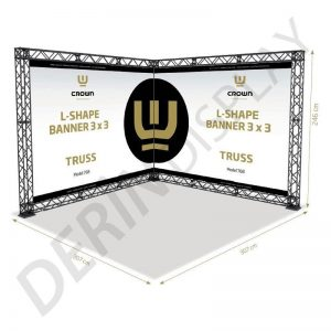 CROWN TRUSS STAND L TİPİ 3x3 M